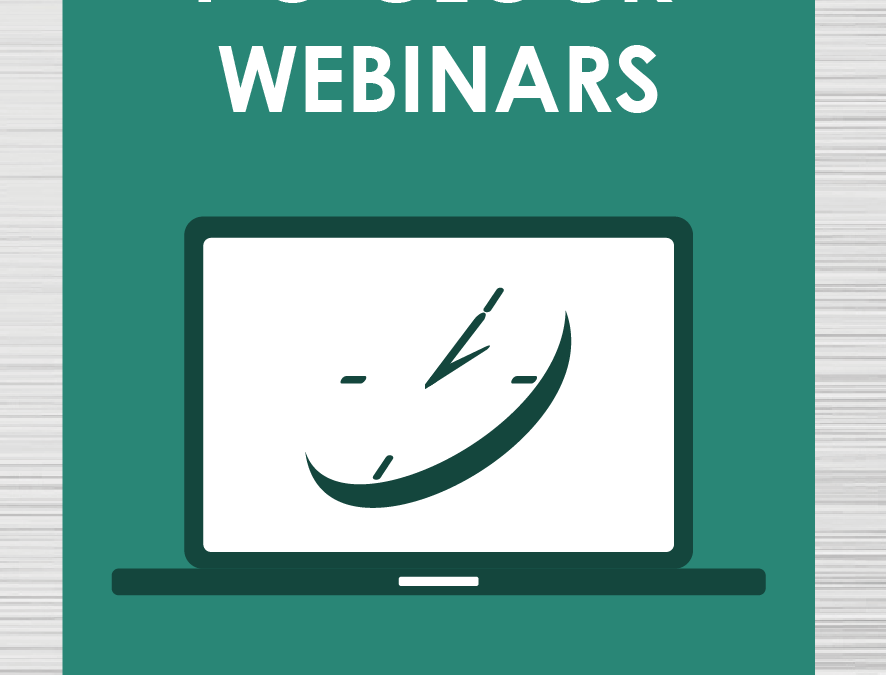 2016 1 O'Clock Webinar Series Announced