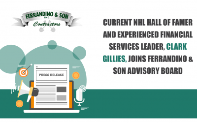 Current NHL Hall of Famer and Experienced Financial Services Leader, Clark Gillies, Joins Ferrandino & Son Advisory Board