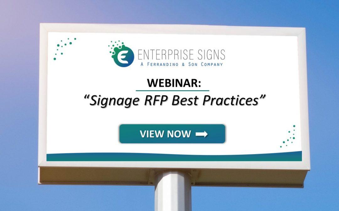 WEBINAR: Signage RFP Best Practices