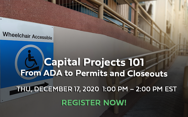 WEBINAR: Capital Projects 10 – From ADA to Permits and Closeouts